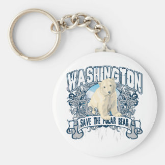 Polar Bear Washington Key Ring