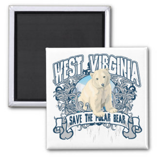 Polar Bear West Virginia Magnet
