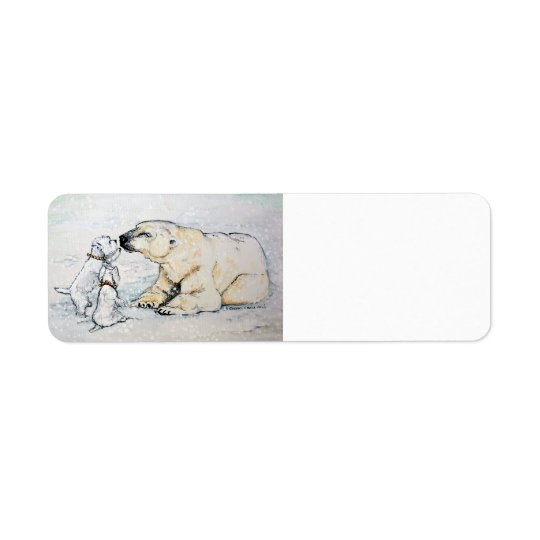 Polar Bear Westies Return Address Label