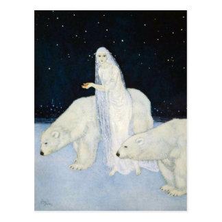Polar Bear Winter Magic Postcards = Edmund Dulac