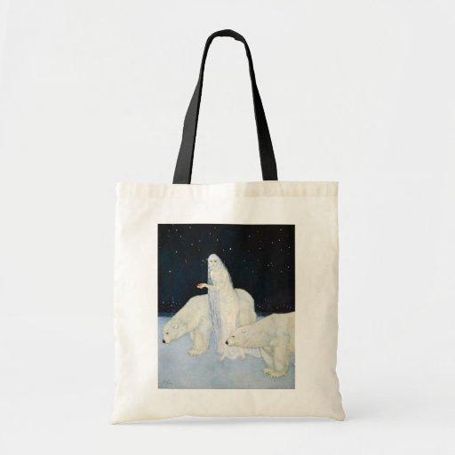 Polar Bear Winter Magic Tote Bag - Edmund Dulac