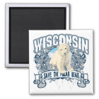 Polar Bear Wisconsin Magnet