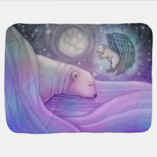 Polar Bear with Angel Fleece Infant Blanket