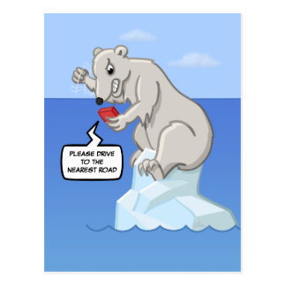 Polar Bearings Meltdown Postcard