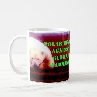 Polar Bear's Against: Global Warming! Basic White Mug
