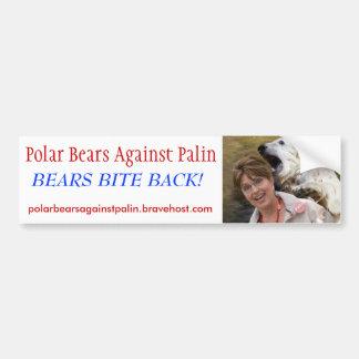 Polar Bears Against Palin - Customized Bumper Sticker