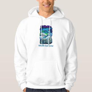 Polar Bears & Aurora Wildlife-supporter Art Hoodie