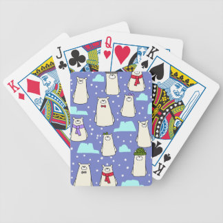polar bears bicycle playing cards