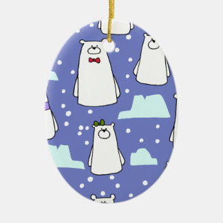 polar bears christmas ornament