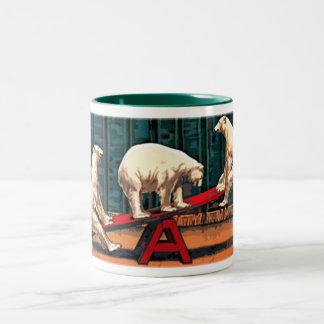 POLAR BEARS CIRCUS COFFEE MUGS