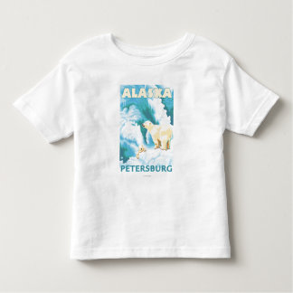 Polar Bears & Cub - Petersburg, Alaska Toddler T-Shirt