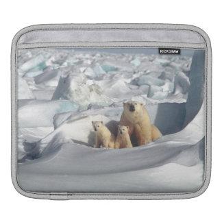 Polar Bears Cubs Arctic Wildlife iPad Sleeve