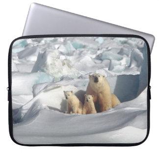 Polar Bears Cubs Arctic Wildlife Laptop Sleeve