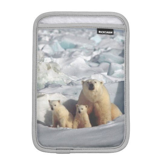 Polar Bears Cubs Arctic Wildlife Mini iPad Sleeve