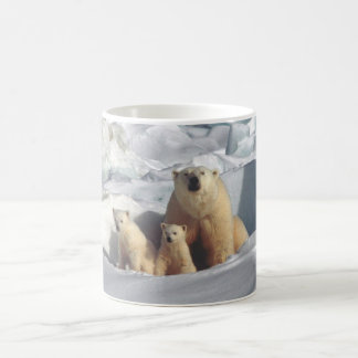 Polar Bears Cubs Arctic Wildlife Nature Coffee Mug