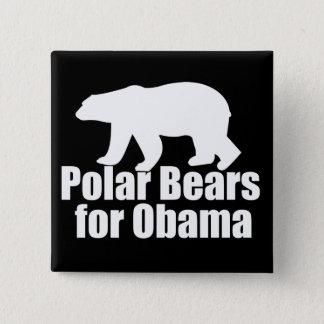 Polar Bears for Obama 15 Cm Square Badge