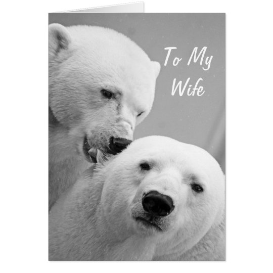 Polar Bears Husband to Wife Anniversary Card