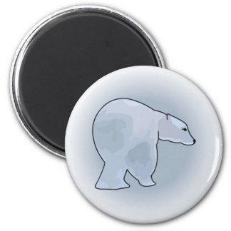 Polar Bears in a Blizzard Refrigerator Magnets