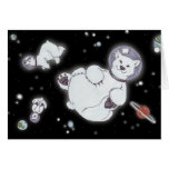 Polar Bears In Space! Greeting Cards