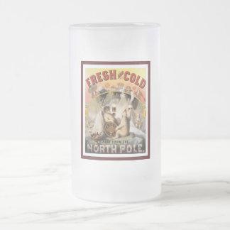 Polar Bears Lager Frosted Glass Beer Mug
