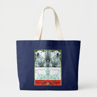 Polar Bears Large Tote Bag
