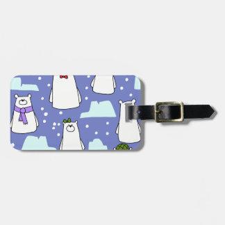 polar bears luggage tag