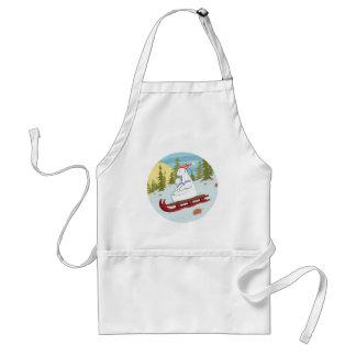 Polar bears on sled standard apron