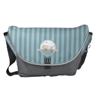 Polar bears- parents and child courier bags