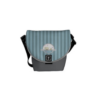 Polar bears- parents and child courier bag
