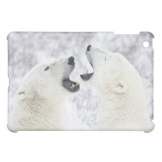 Polar Bears playing in the snow. iPad Mini Cases