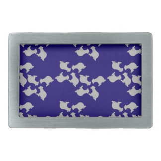 Polar bears rectangular belt buckles