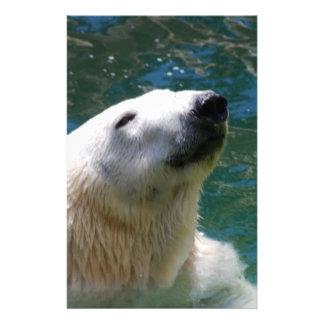 Polar bears smile customised stationery