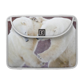 Polar Bears sparring 2 Sleeve For MacBooks