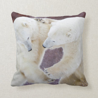 Polar Bears sparring 2 Throw Pillow