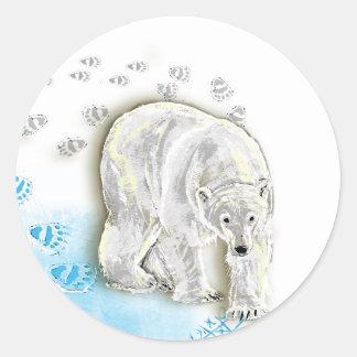 Polar Bored Round Sticker