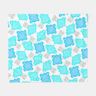 Polar cover Jimette white turquoise Design Fleece Blanket