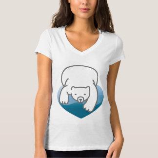 Polar Heart Save The Earth T-Shirt