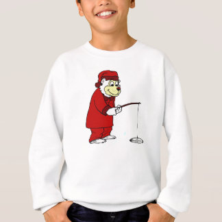 Polar Ice Fishing in Pajamas Sweatshirt