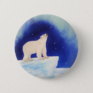 Polar Lights 6 Cm Round Badge