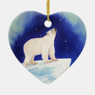 Polar Lights Ceramic Heart Decoration
