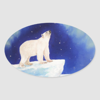 Polar Lights Oval Sticker