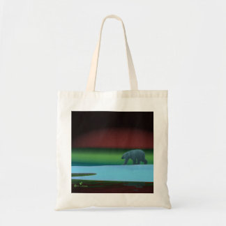 Polar Lights Polar Bear Budget Tote Bag
