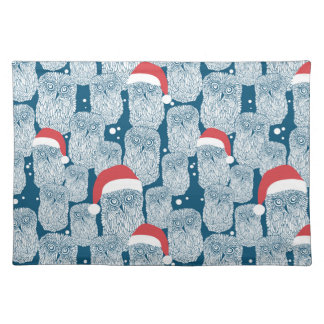 Polar Owls In Christmas Placemat