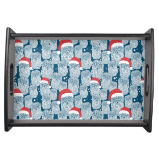 Polar Owls In Christmas Serving Tray