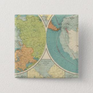 Polar Regions 15 Cm Square Badge