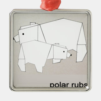 polar rubs christmas ornament