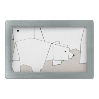polar rubs rectangular belt buckles