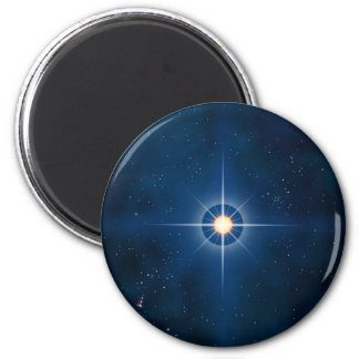 Polar Star 6 Cm Round Magnet