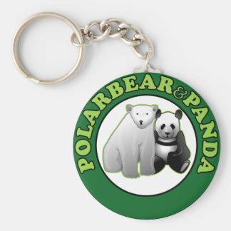 Polarbear & Panda Keychain