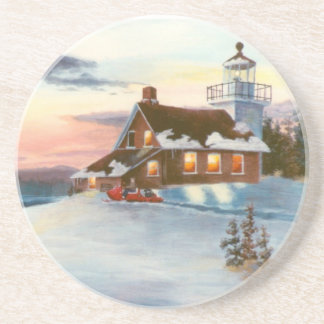 Polaris Sunset Lighthouse Coasters